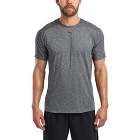 saucony Breakthru Short Sleeve Shirt Men, dark grey heather